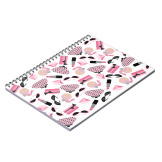 Perfume Purses Sunglasses & Lipstick Notebook