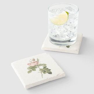 perfumer's rose by Redouté Stone Coaster