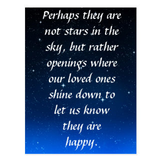 Perhaps they are not stars in the sky but openings postcard