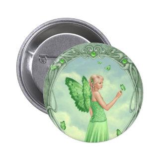 Peridot Birthstone Fairy Button Badge