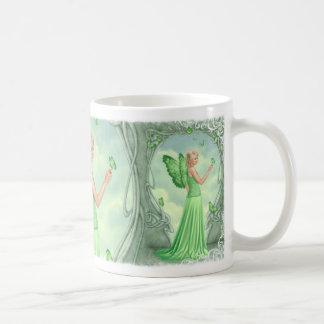 Peridot Birthstone Fairy Mug