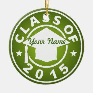 Peridot Class Of 2015 Graduation Christmas Tree Ornaments
