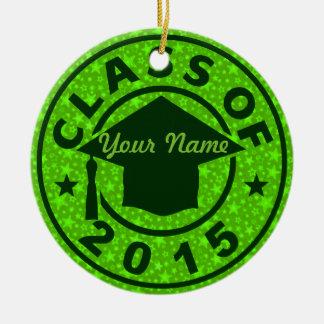 Peridot Class Of 2015 Graduation Christmas Tree Ornament