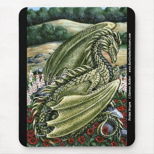 Peridot Dragon Mousepad