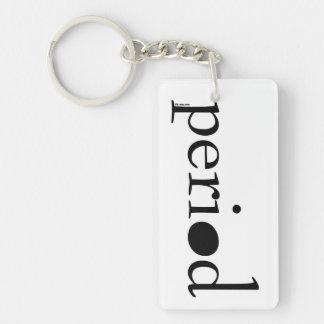 Period Single-Sided Rectangular Acrylic Key Ring