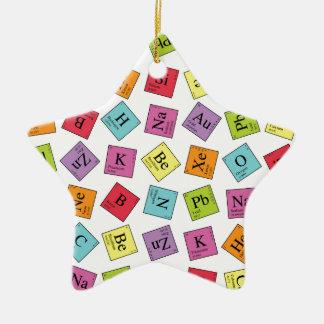 Periodic Elements Ceramic Star Decoration