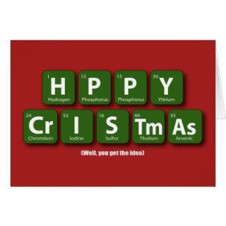 Periodic Happy Christmas Card