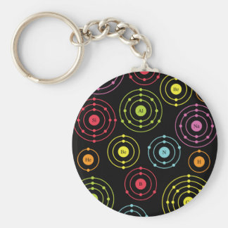 Periodic Shells Basic Round Button Key Ring
