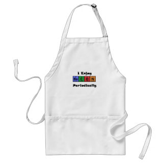 Periodic Table Bacon Science Chemistry Funny Standard Apron