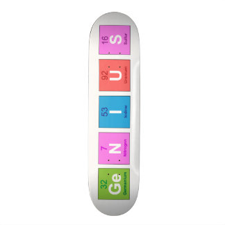 Periodic table chemistry fun 21.6 cm old school skateboard deck