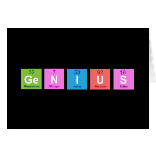 Periodic table chemistry fun card