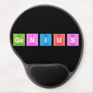 Periodic table chemistry fun gel mouse mat