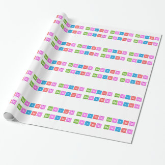 Periodic table chemistry fun wrapping paper