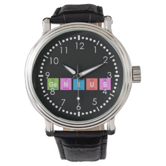 Periodic table chemistry fun wristwatches