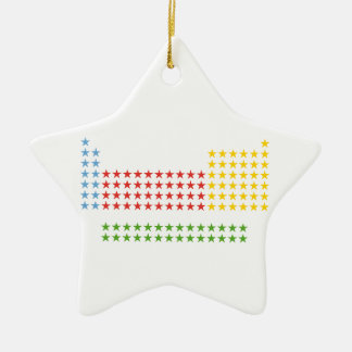 Periodic table Double-Sided star ceramic christmas ornament