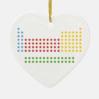 Periodic table Double-Sided heart ceramic christmas ornament