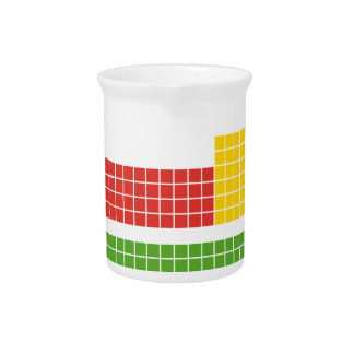 Periodic table drink pitcher