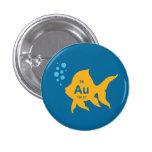 Periodic Table Elemental Gold Fish 3 Cm Round Badge