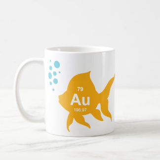 Periodic Table Elemental Gold Fish Coffee Mug