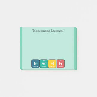Periodic Table Elements for Teacher CAN EDIT COLOR Post-it Notes