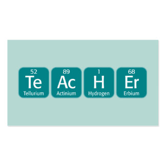 Periodic Table Elements Spelling Teacher Pack Of Standard Business Cards