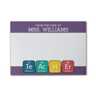 Periodic Table Post It Notes