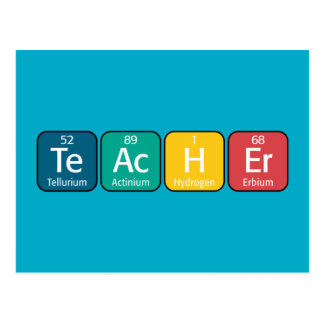 Periodic Table Elements Spelling Teacher Postcard