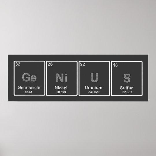Periodic Table GeNiUS poster