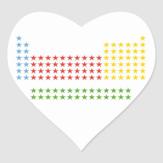 Periodic table heart sticker