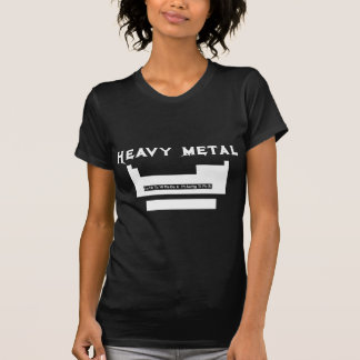 Periodic table: heavy metal shirts