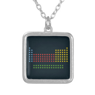 Periodic table in stars custom necklace