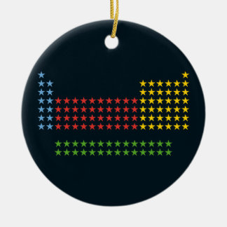 Periodic table in stars Double-Sided ceramic round christmas ornament