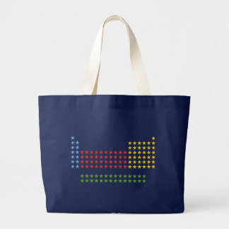 Periodic table in stars large tote bag