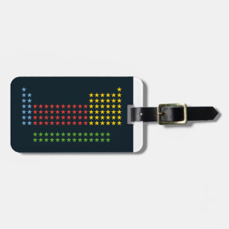 Periodic table in stars luggage tag