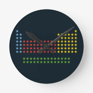 Periodic table in stars round clocks
