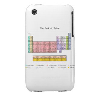 Periodic table iphone 3 cover