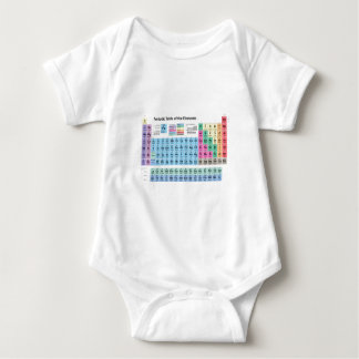 Periodic Table of Elements Baby Bodysuit