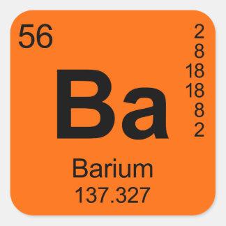 Periodic Table of Elements Barium Square Stickers