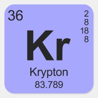 Periodic Table of Elements Krypton Square Sticker