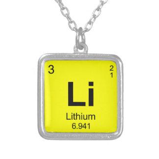 Periodic Table of Elements Lithium Pendant