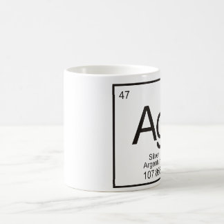 Periodic Table of Elements Mug - Silver Ag