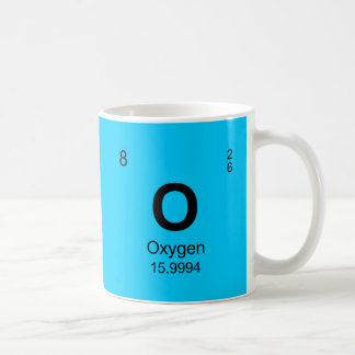 Periodic Table of Elements (Oxygen) Basic White Mug