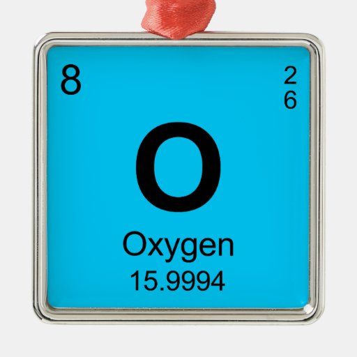 Periodic Table of Elements (Oxygen) Silver-Colored Square ...