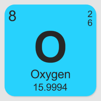 Periodic Table of Elements Oxygen Sticker