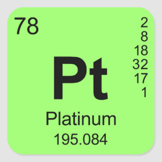 Periodic Table of Elements Platinum Stickers