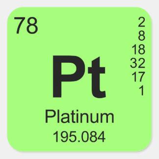 Periodic Table of Elements (Platinum) Stickers
