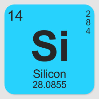 Periodic Table of Elements Silicon Sticker