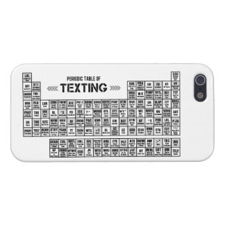 Periodic Table of Texting (b&w) iPhone 5 Covers
