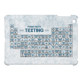 Periodic Table of Texting (Blue) iPad Mini Covers