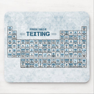 Periodic Table of Texting (Blue) Mouse Mat